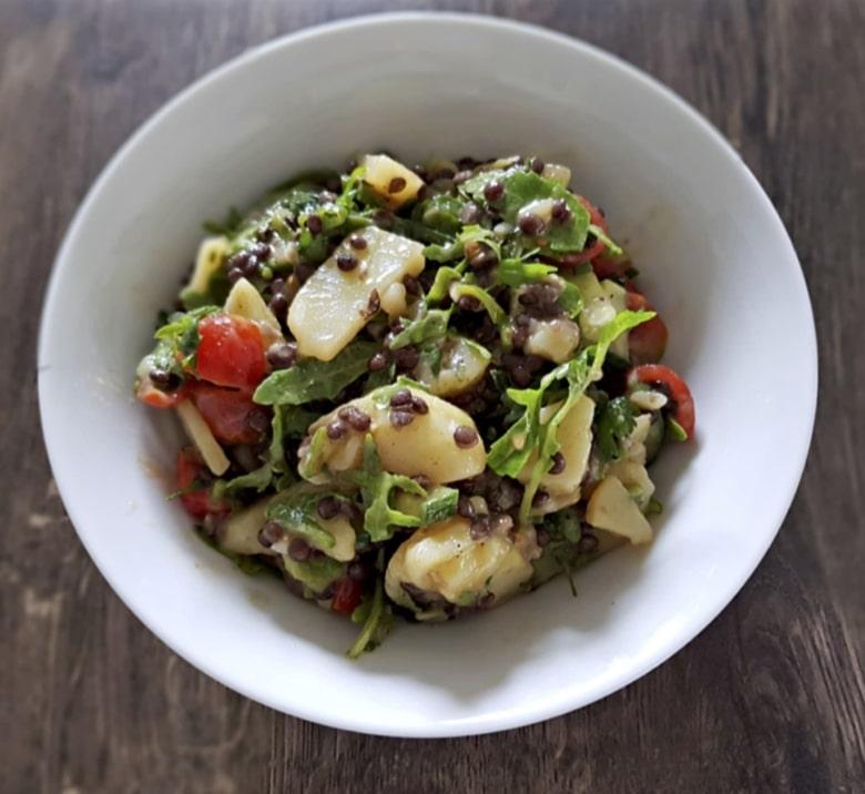 Linsen Kartoffelsalat